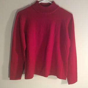 Women's  Red Sweater Chaus Size Large Wool